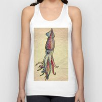squid Tank Tops featuring Squid by Irene Fratto Due