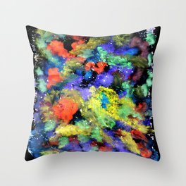 Colorful Chaos painting Throw Pillow