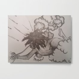 The Struggle Metal Print