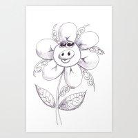 Pig flower Art Print