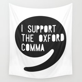 Oxford Comma Wall Tapestry
