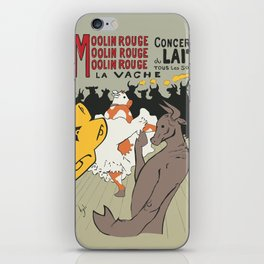 Moolin Rouge - This Cow Can Can Can iPhone Skin