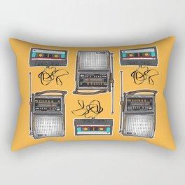 Mid Mod Audio - Gold Rectangular Pillow