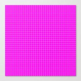 Pink Grid White LIne Canvas Print