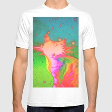 In Ghost Colours. White Mens Fitted Tee MEDIUM