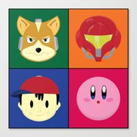 smash bros Canvas Prints featuring SMASH BROS by Nearly Headless