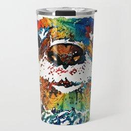 Otter Art - Ottertude - By Sharon Cummings Travel Mug
