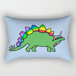 Stegocorn (Unicorn Stegosaurus) Rectangular Pillow