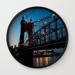 Roebling Bridge Wall Clock