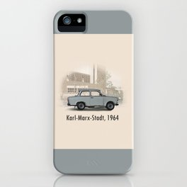 A Trabant in Karl-Marx-Stadt iPhone Case