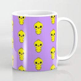 cute easter chicken pattern in yellow and indigo Coffee Mug