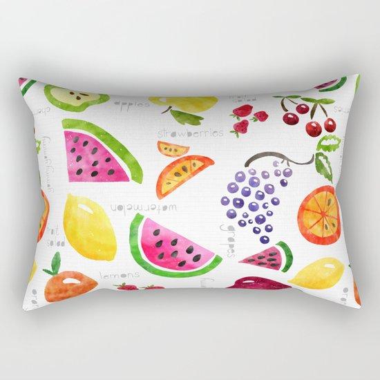 Fruit Salad Yummy Yummy Rectangular Pillow