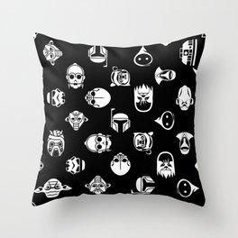 Classic StarWars Icons Throw Pillow