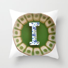 Love Letters to Dinnerware - I Throw Pillow