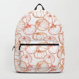 Pumpkins (White Glow) - Coral Backpack