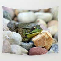 frog Wall Tapestries featuring Frog by C Flynn