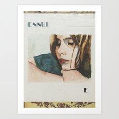 E is for Ennui Art Print