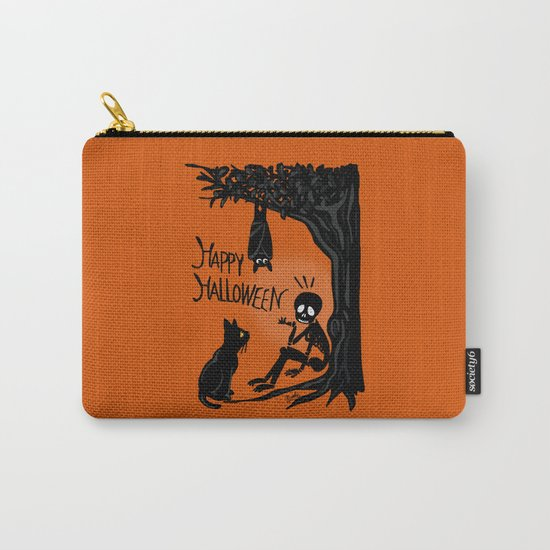 Halloween with the skull Carry-All Pouch