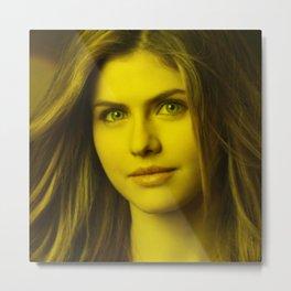 Alexandra Daddari - Celebrity (florescent Color Technique) Metal Print
