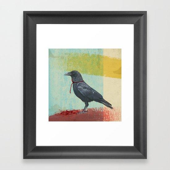 freedom raven Framed Art Print
