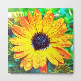 Digital Daisy Metal Print