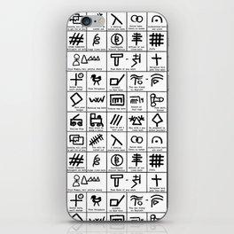 Hobo Code iPhone Skin