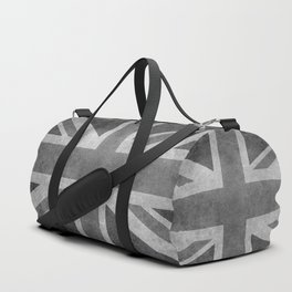 Union Jack Vintage 3:5 Version in grayscale Duffle Bag