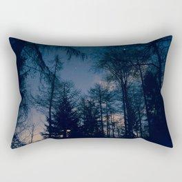 Night Forrest Rectangular Pillow
