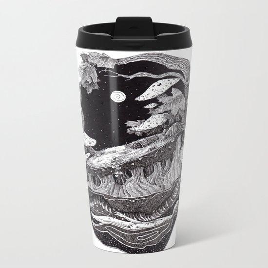 black nature Metal Travel Mug