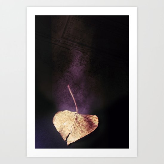 the world in a leaf Art Print
