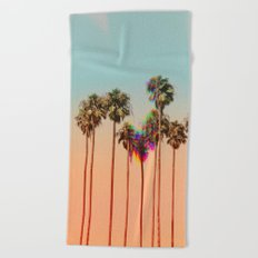 Glitch beach Beach Towel