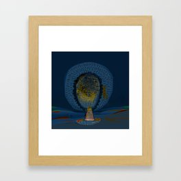 Tree Cactus in a Blue Desert Framed Art Print