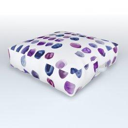 Shades of Purple Outdoor Floor Cushion