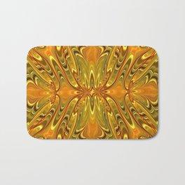 Abstract gold Bath Mat