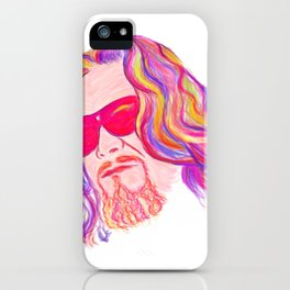Psychedelic Lebowski iPhone Case