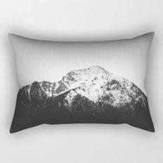 Black and white snowy mountain Rectangular Pillow