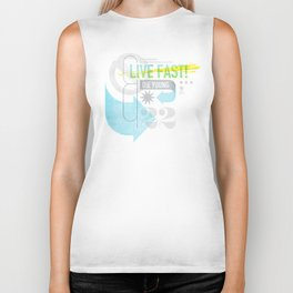 Live Fast / Die Young Biker Tank