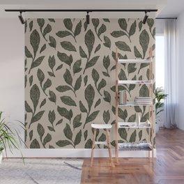 Leaf Pattern Wall Mural