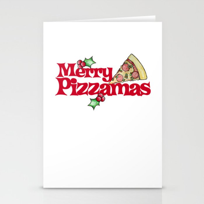Merry Pizzamas Stationery Cards