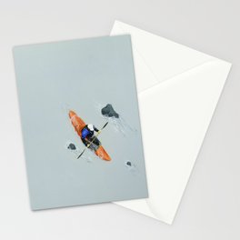Solitude- Kayaker Stationery Cards