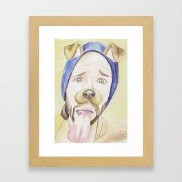 Jared Padalecki, watercolor painting Framed Art Print