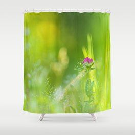 Beauty of wildflowers in the garden Shower Curtain