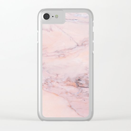 Blush Marble Clear iPhone Case