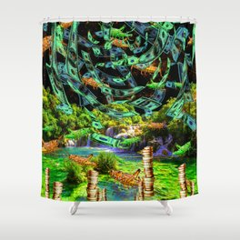 Hoppin' Money Shower Curtain