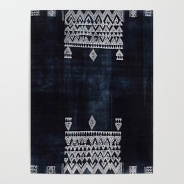 Arteresting V48 - Indigo Anthropologie Bohemien Traditional Moroccan Design Poster