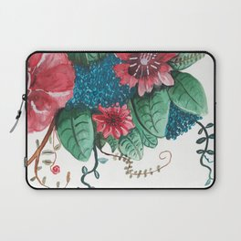 Ruby Botanical 3 Floral Watercolor Laptop Sleeve