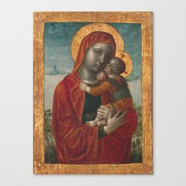 Madonna and Child by Vincenzo Foppa, 1480 Canvas Print