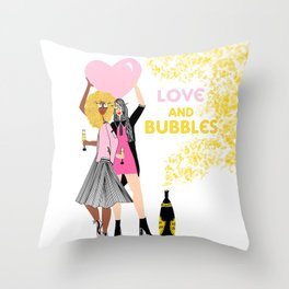 Love and Bubbles Throw Pillow