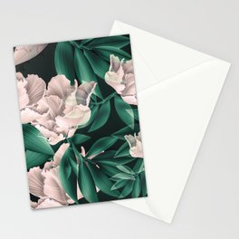 Blooming pink large flowers Stationery Cards