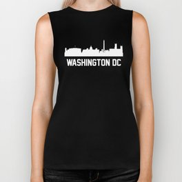 Washington DC Skyline Cityscape Biker Tank